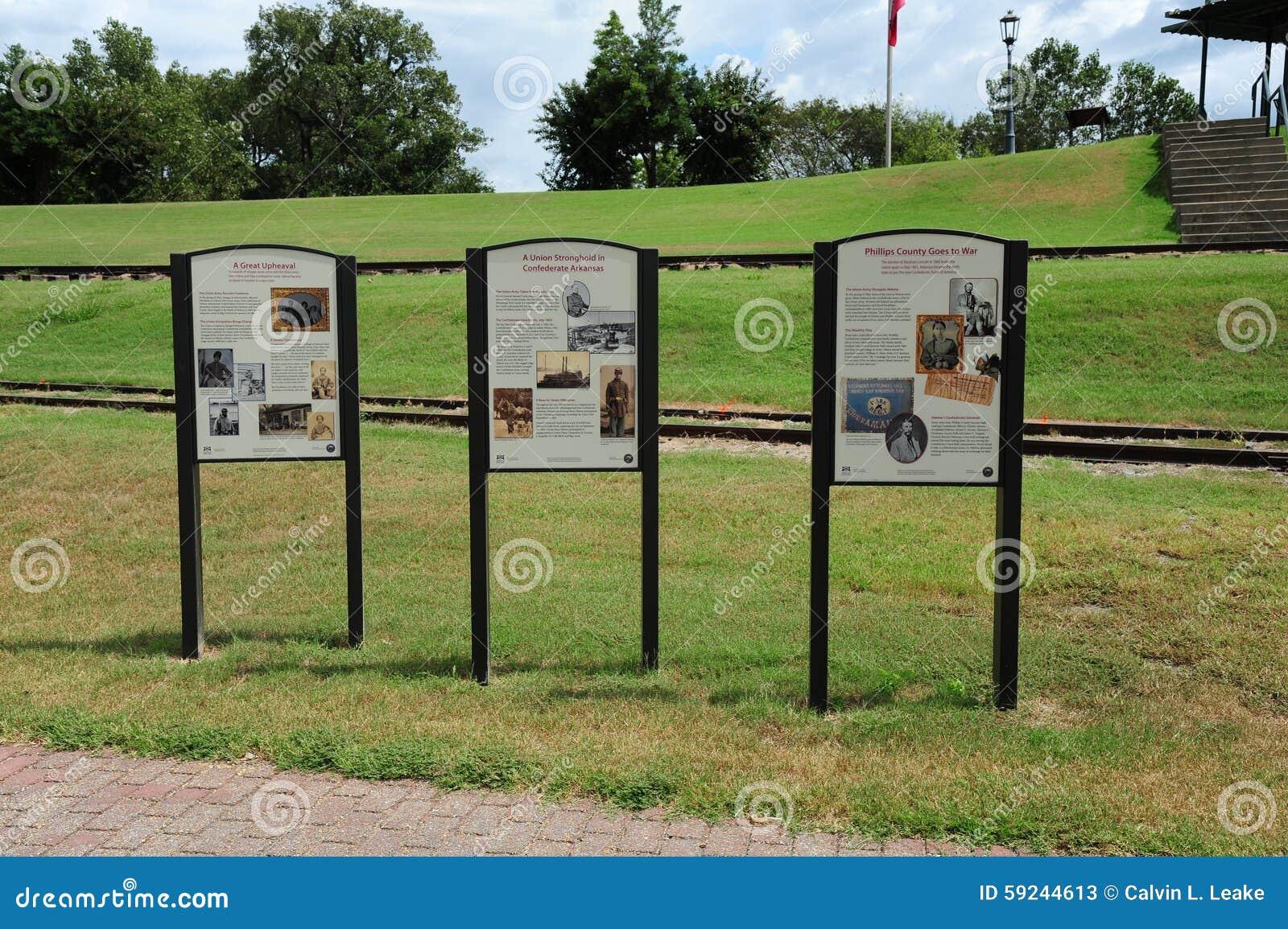Download Placas Históricas En Helena Levee Walk, Helena Arkansas Foto de archivo editorial - Imagen de placa, céntrico: 59244613