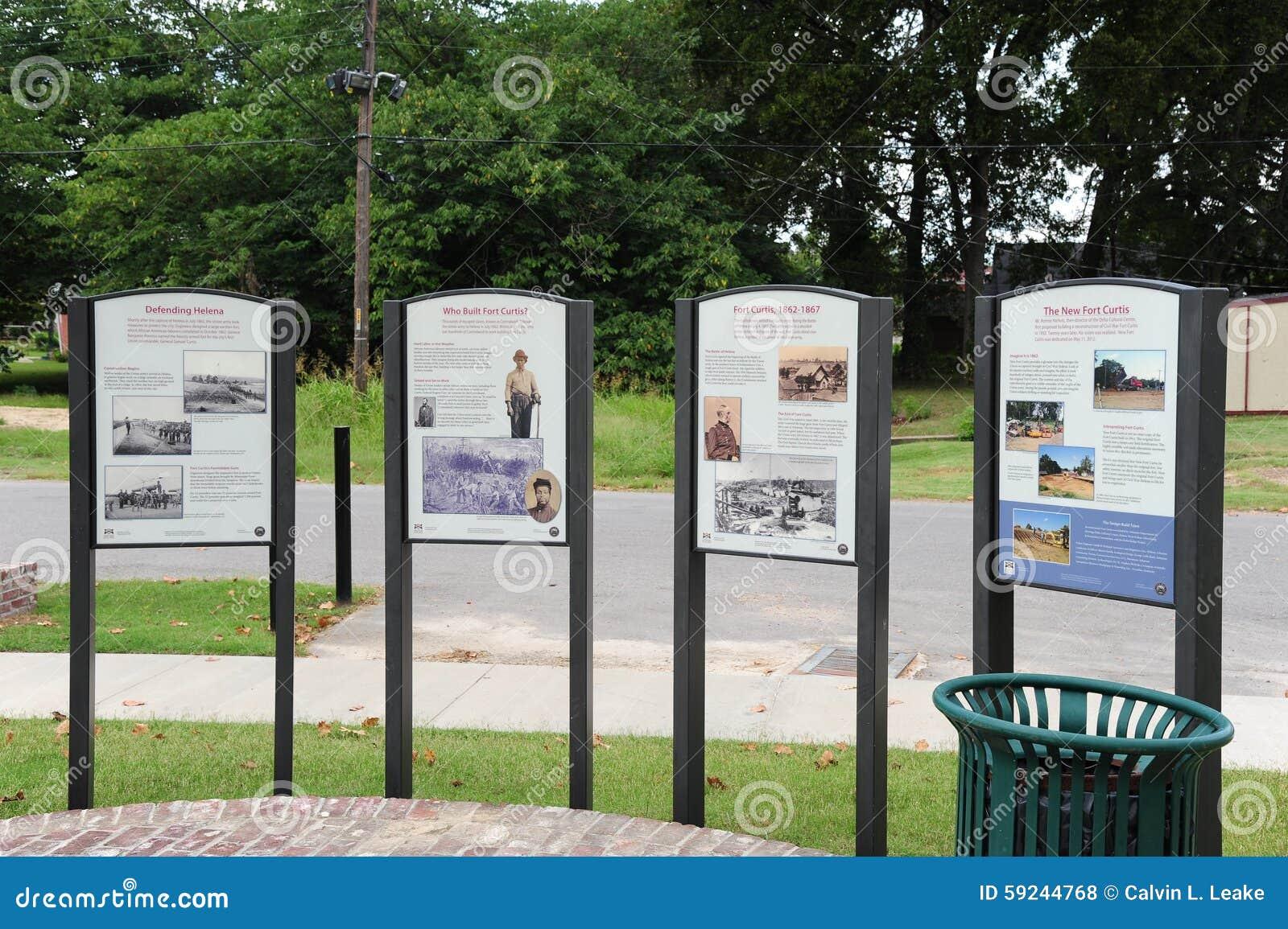 Download Placas Informativas Históricas En El Fuerte Curtis, Helena Arkansas Foto de archivo editorial - Imagen de sitio, ataque: 59244768