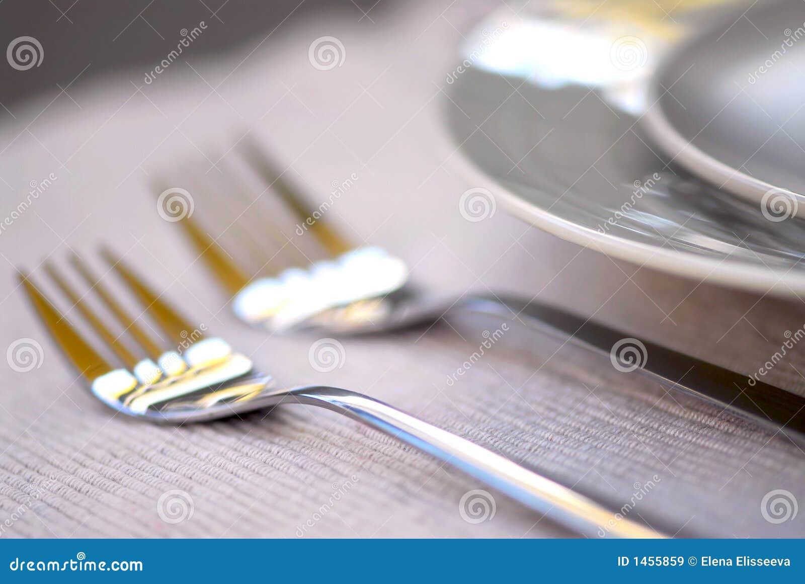 Placas y cuchillería