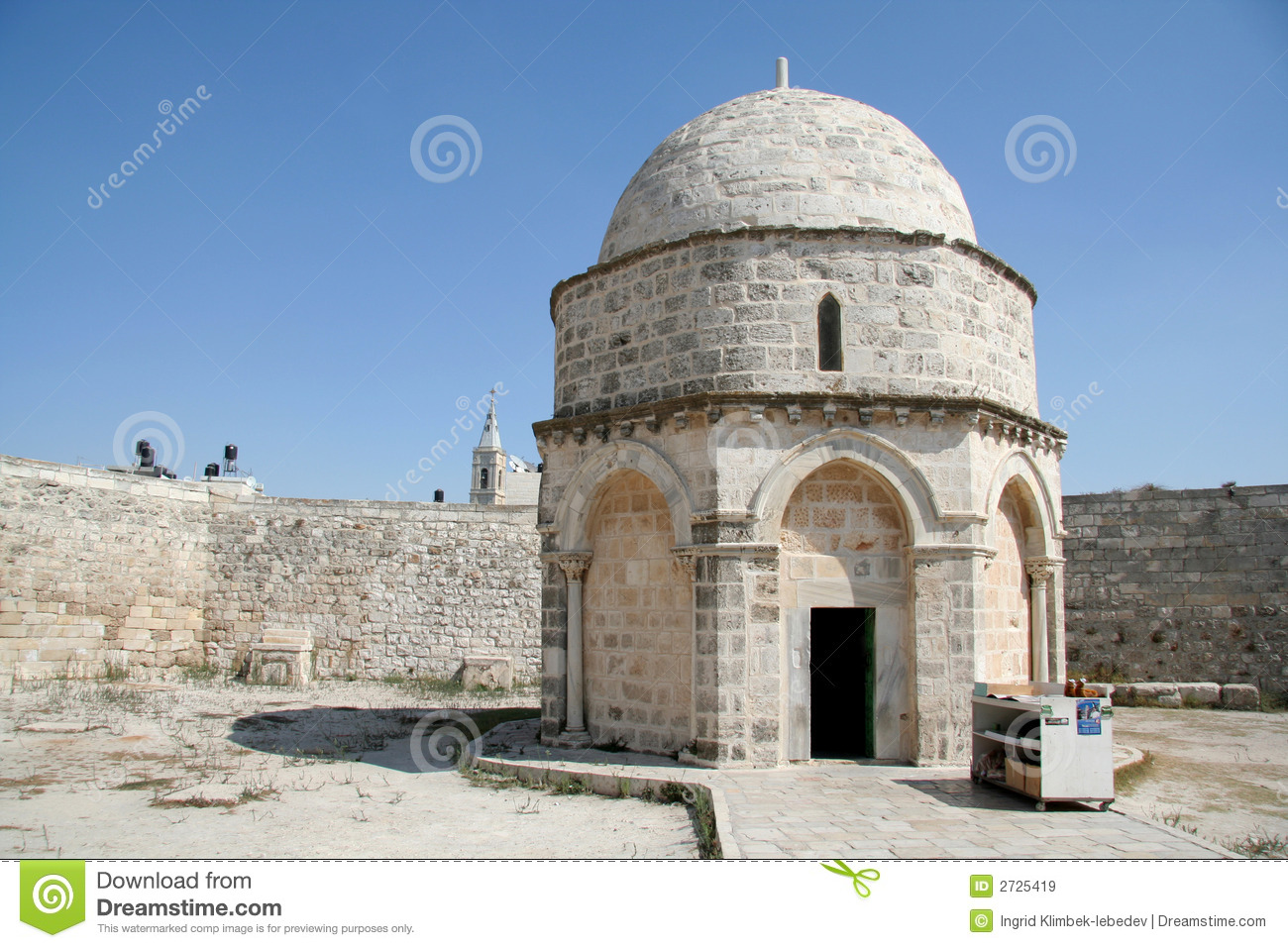 place of ascension of jesus royalty free stock images   image 2725419