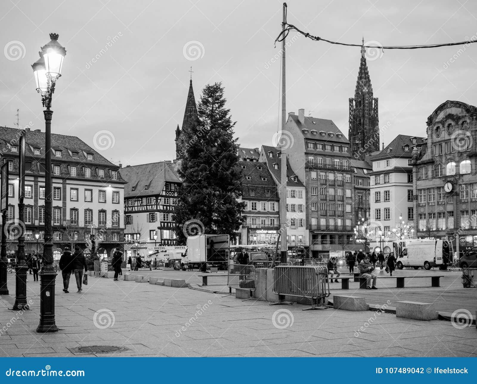 Place centrale dans l endroit Kleber de Strasbourg de Frances