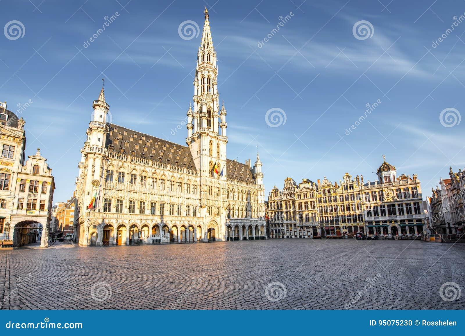 Place centrale dans la ville de Bruxelles