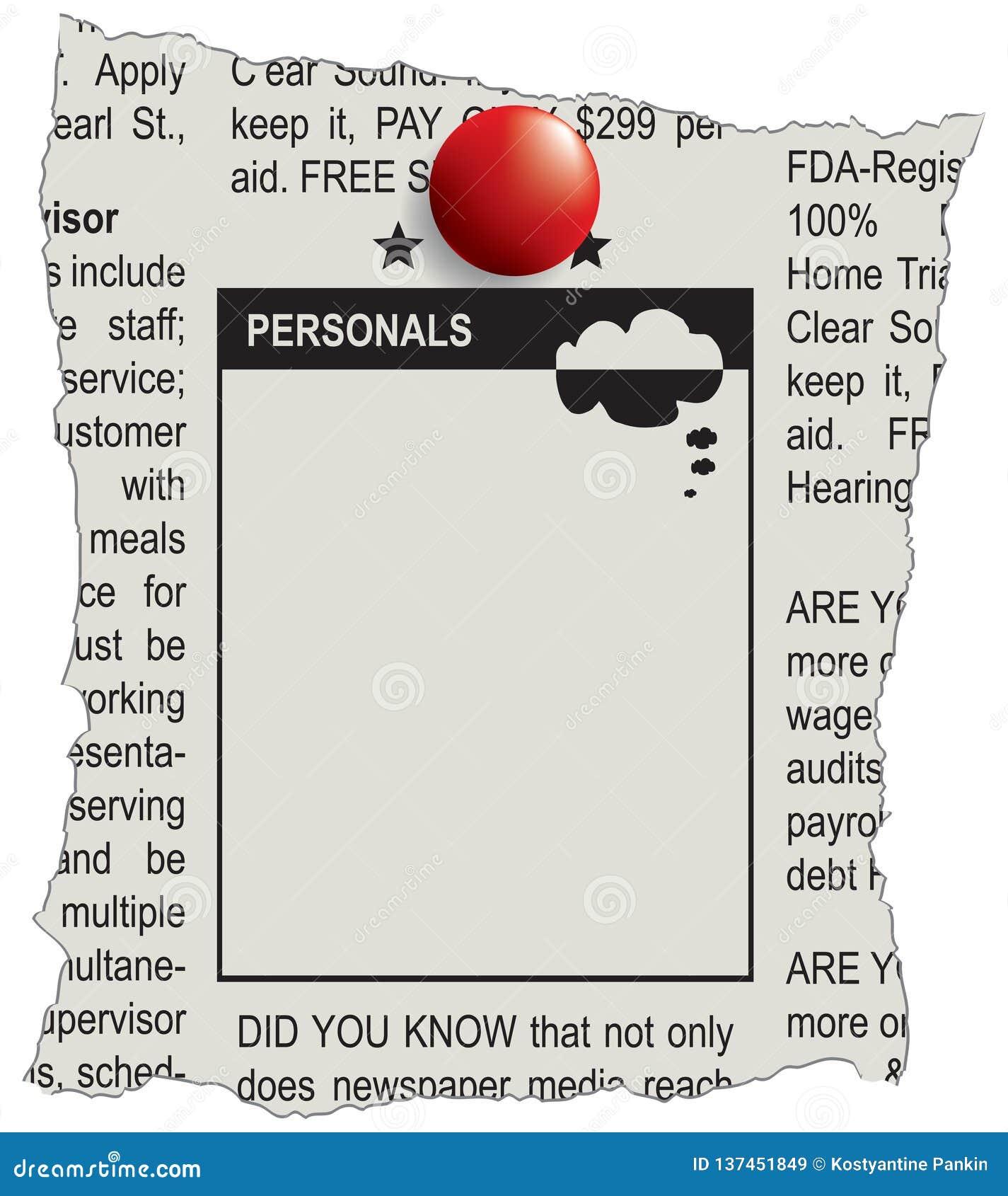 Personals Stock Illustrations – 40 Personals Stock