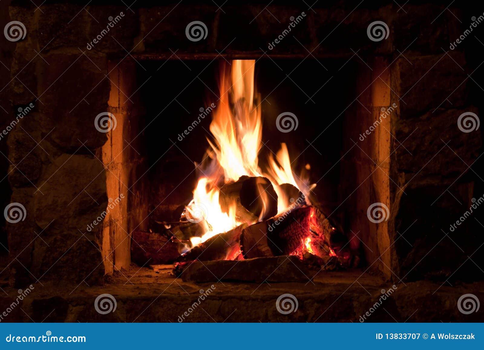 Place d incendie dans la maison de l hiver