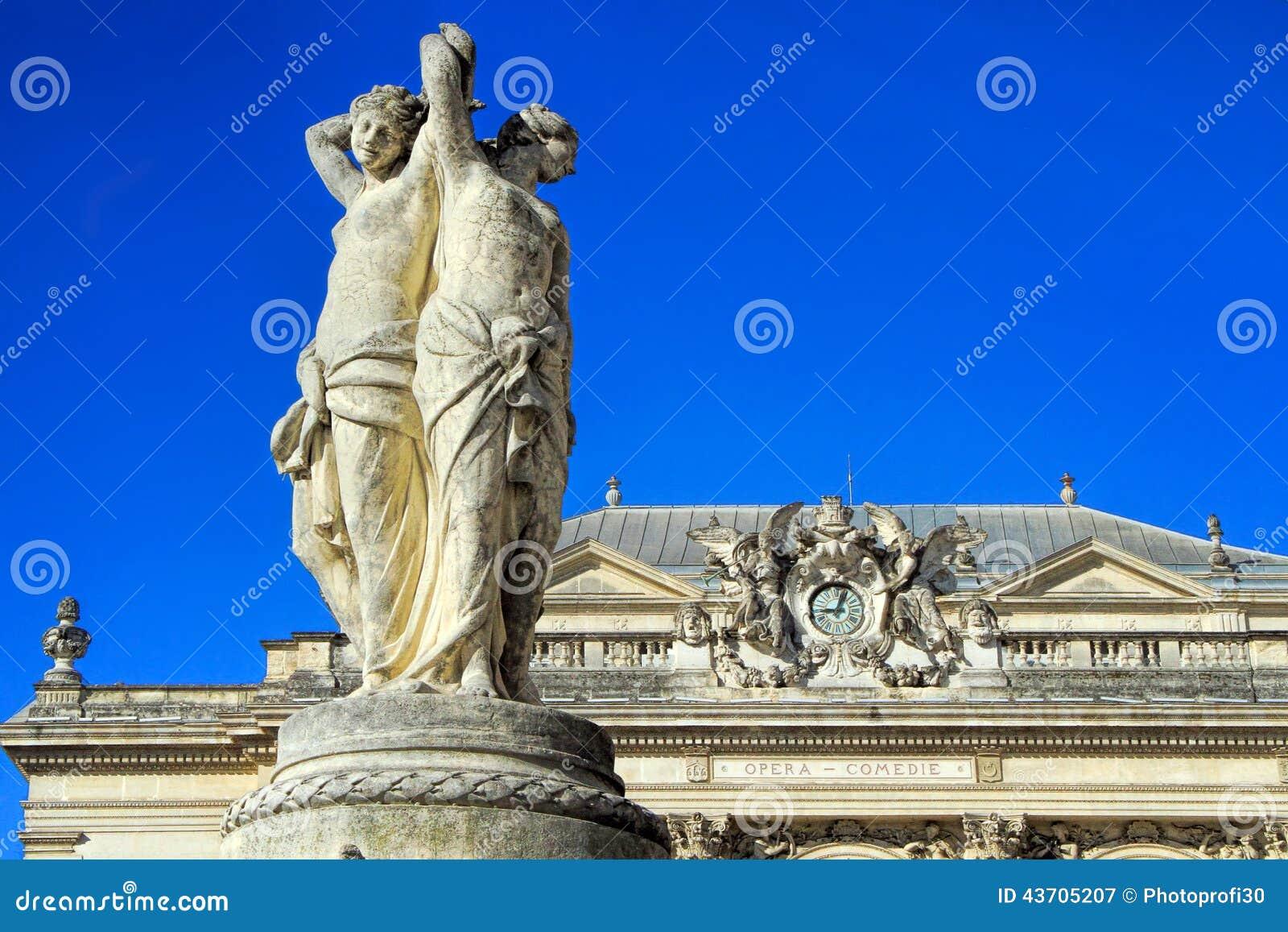 Place de Λα Comedie - τετράγωνο θεάτρων του Μονπελιέ