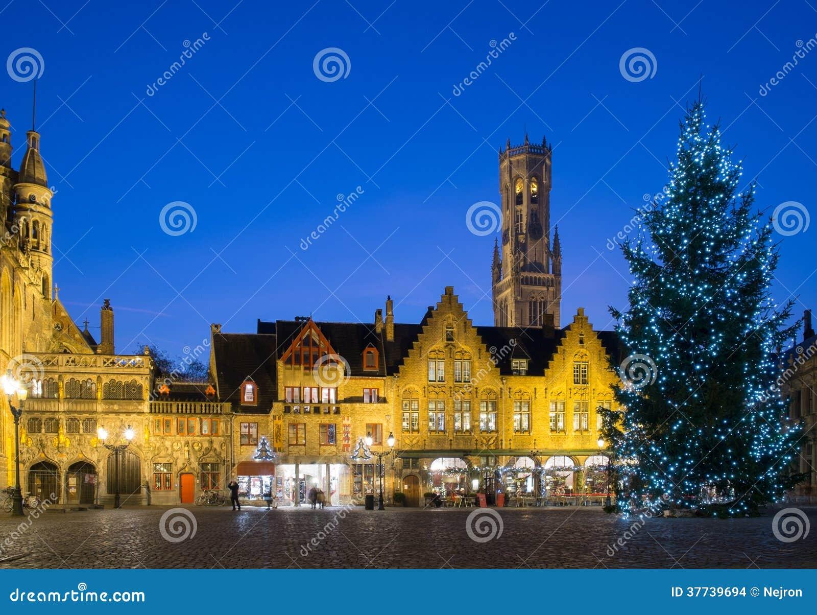 Place de Burg à Bruges, Belgique