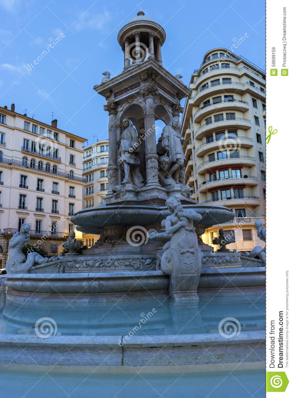 Place des jacobins in lyon in france stock photo image - Place des jacobins lyon ...