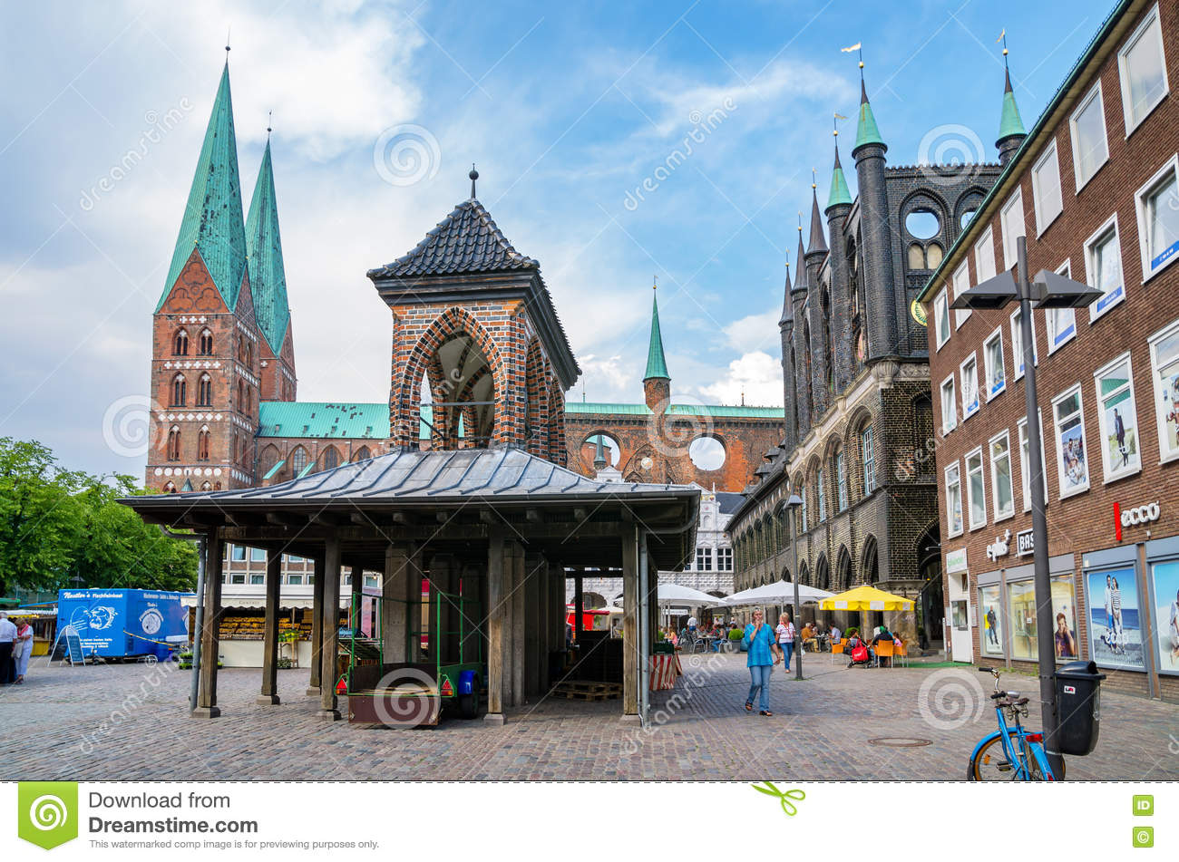 Place Du March Lbeck Le Schleswig Holstein Allemagne Photo