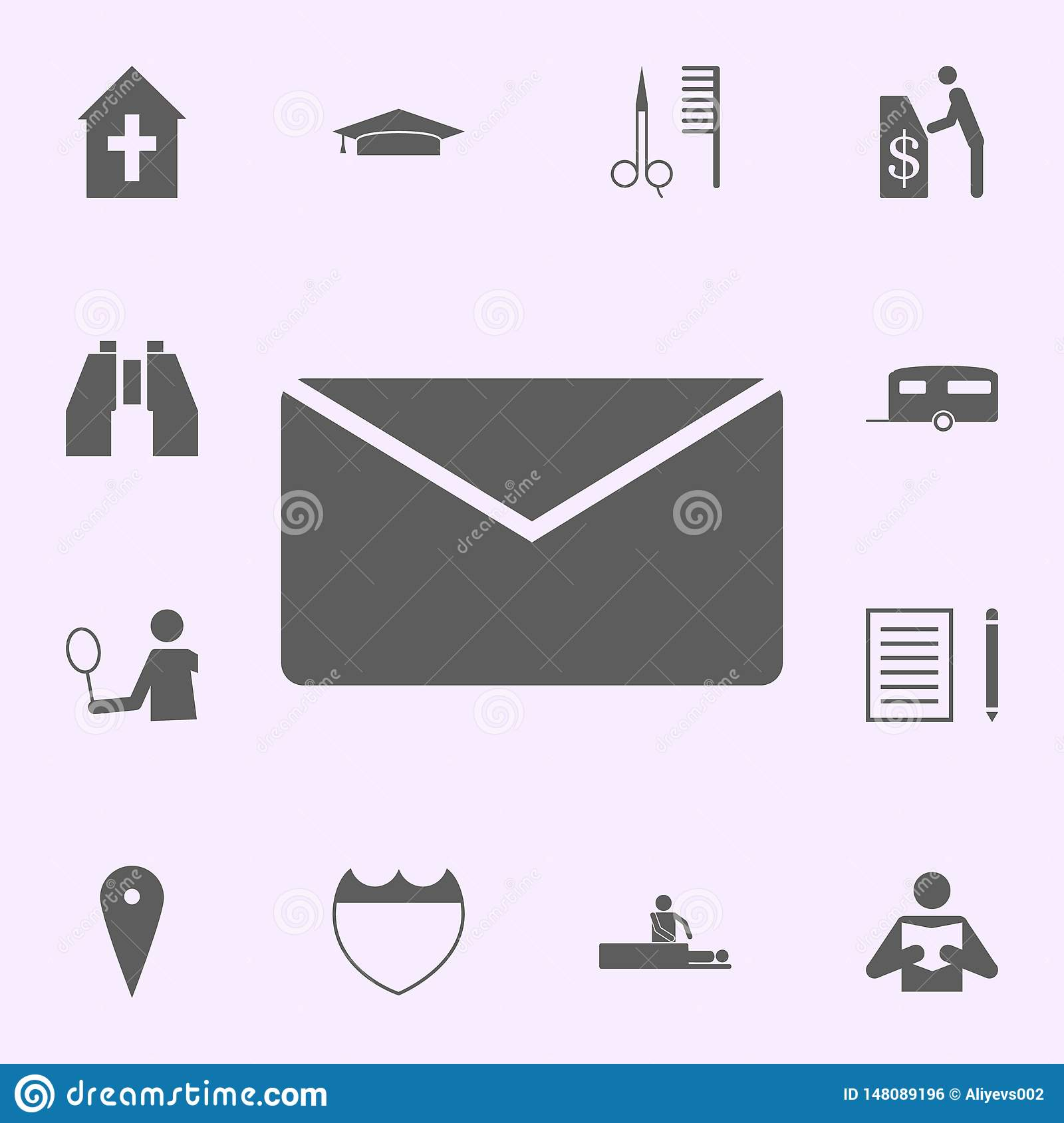 place of mail icon. signs of pins icons universal set for web and mobile