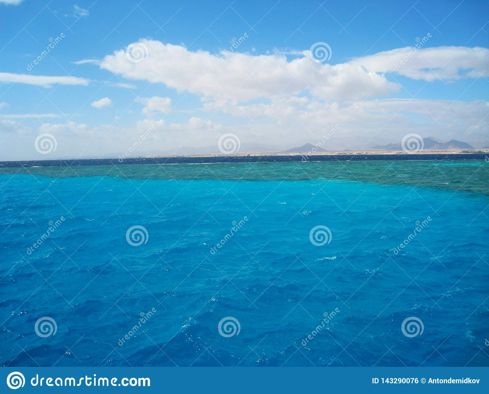Place of mixing the waters of the Red Sea. Sinai, Egypt