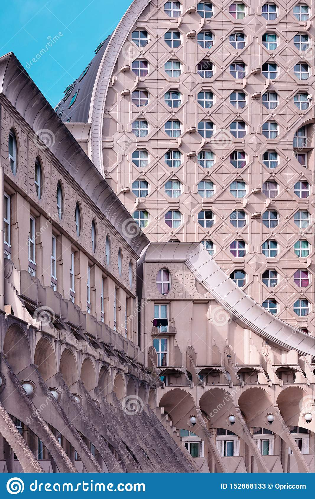 Noisy Le Grand Architecture place pablo picasso, noisy-le-grand, france editorial stock