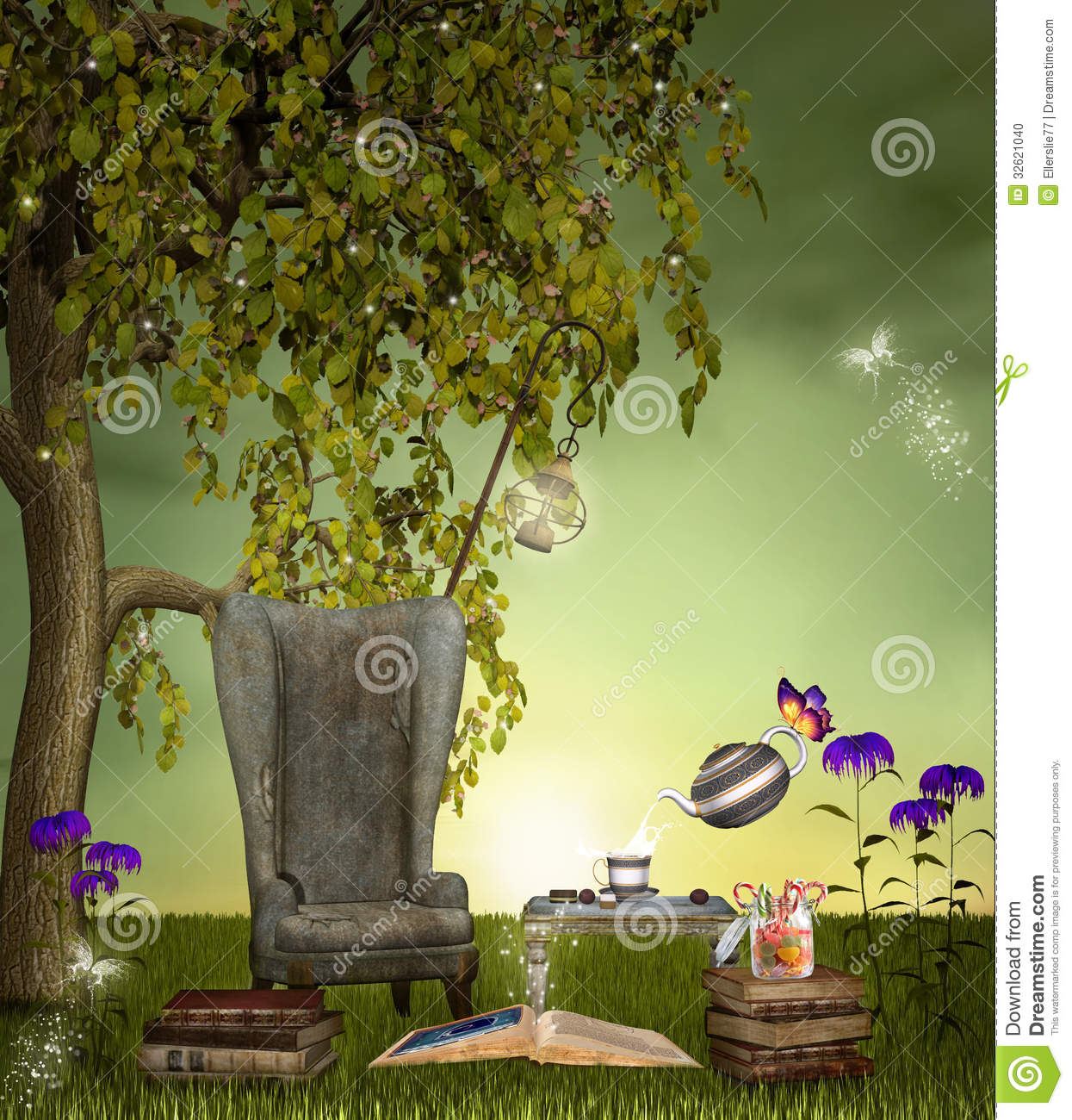 A Place For Reading Stock Photo Image 32621040