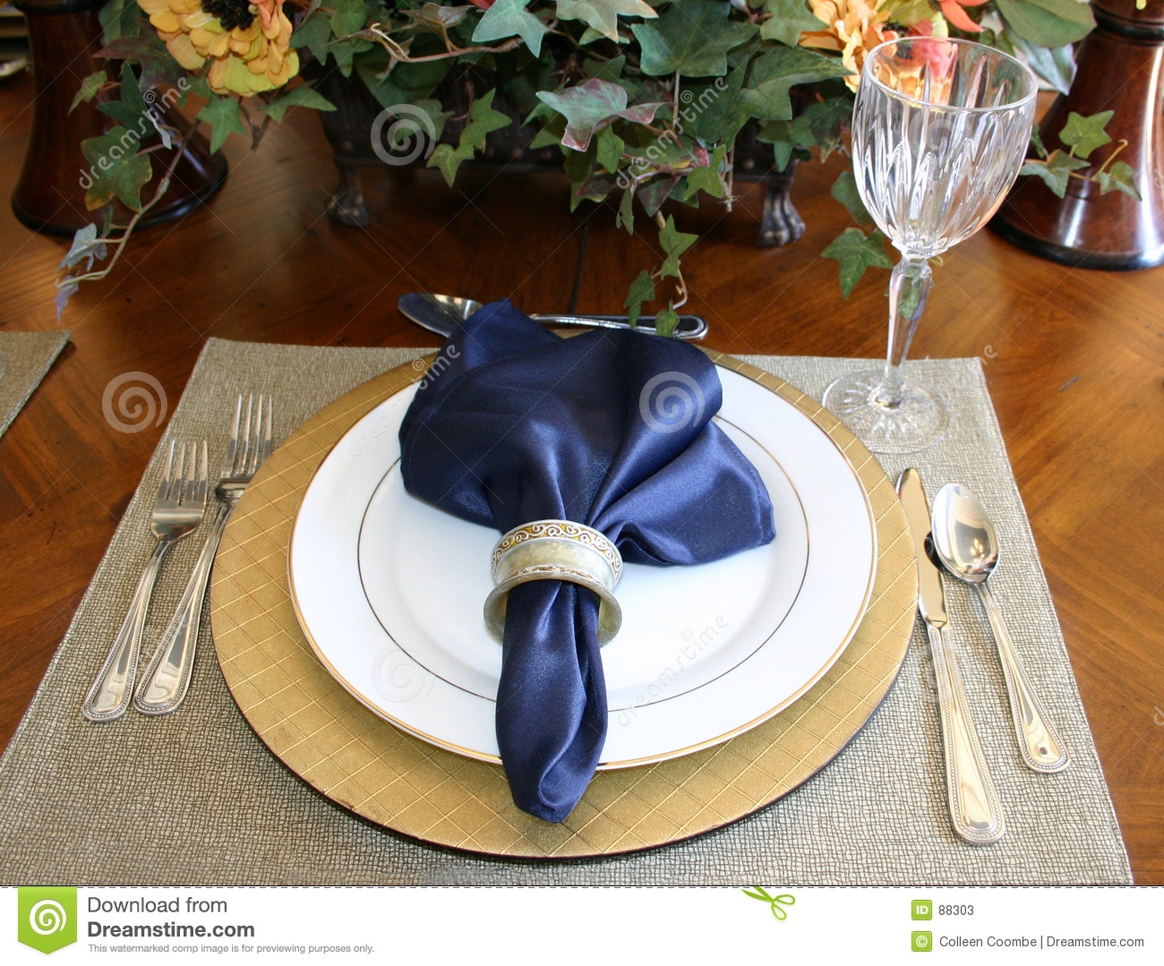 Place Setting Stock Image Image Of Dinner Silk Friends 88303