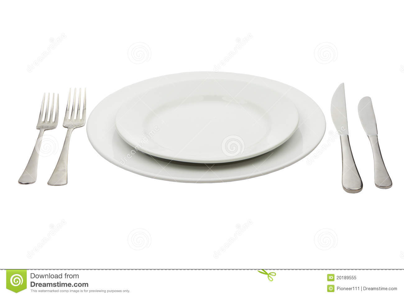 Place setting with high-gloss plate, knife & fork