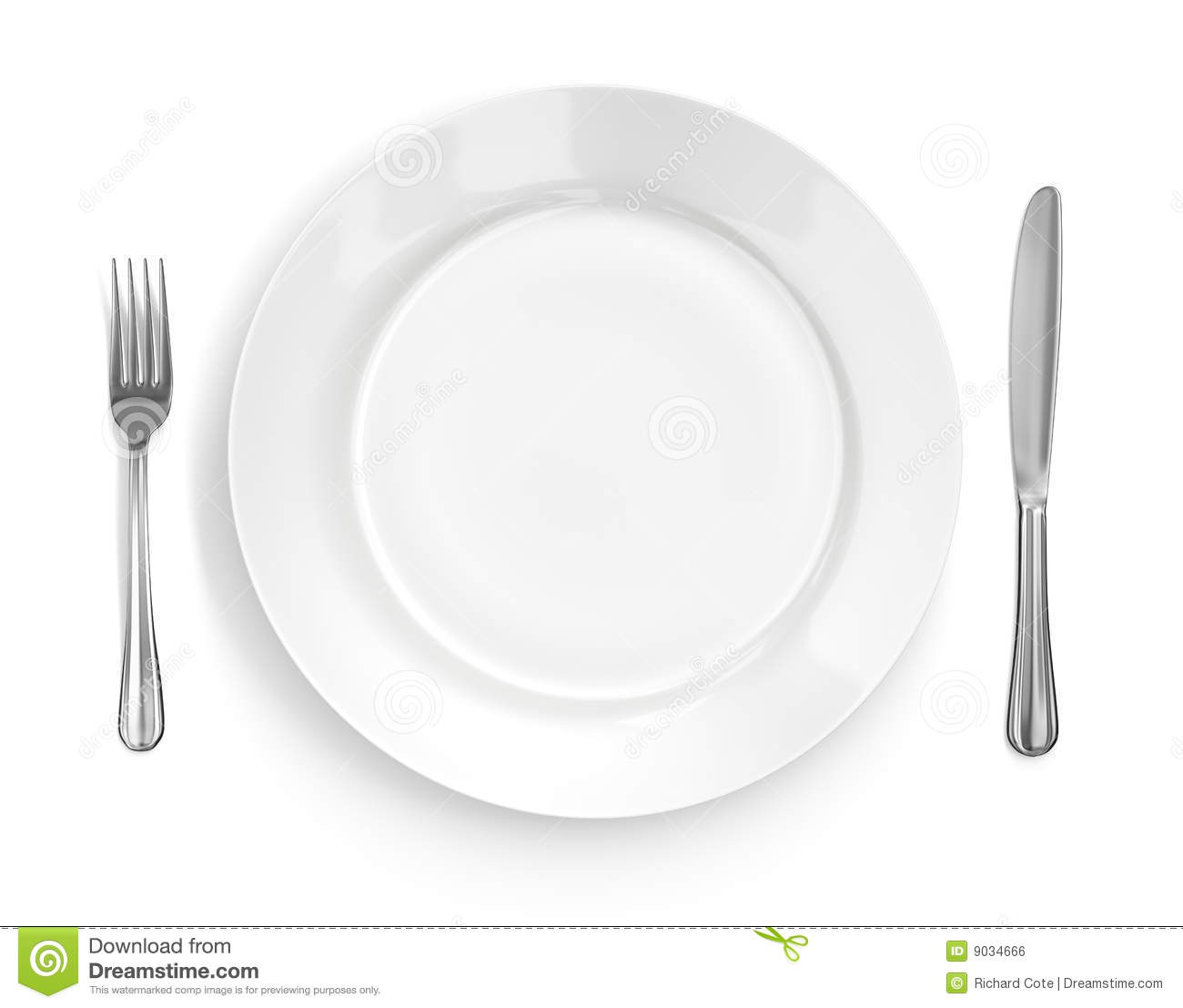 Place Setting with Plate Knife u0026 Fork  sc 1 st  Dreamstime.com & Place Setting With Plate Knife u0026 Fork Stock Illustration ...