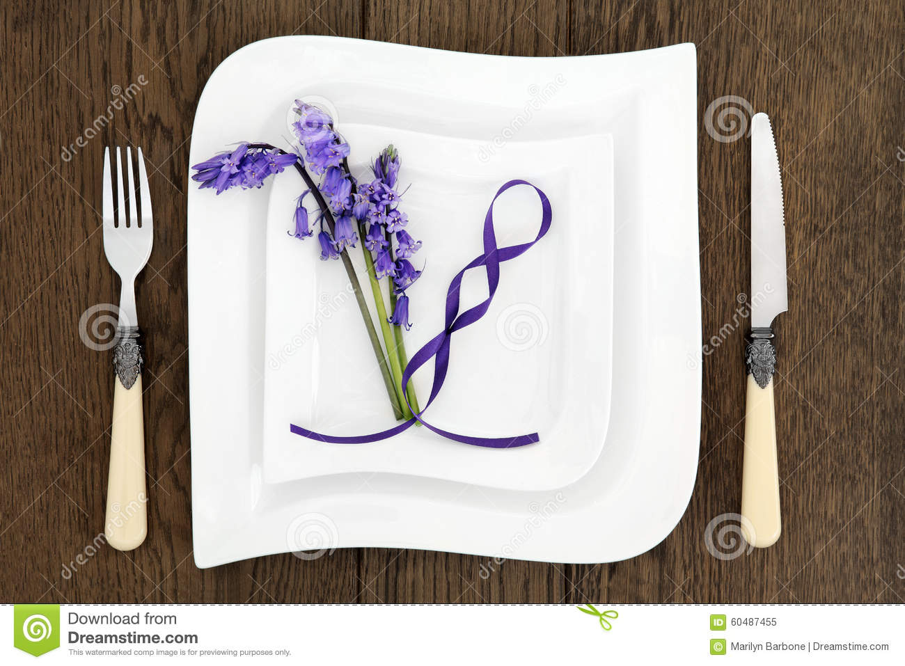 Place setting on rustic oak stock photo image 60487455 for Place setting images