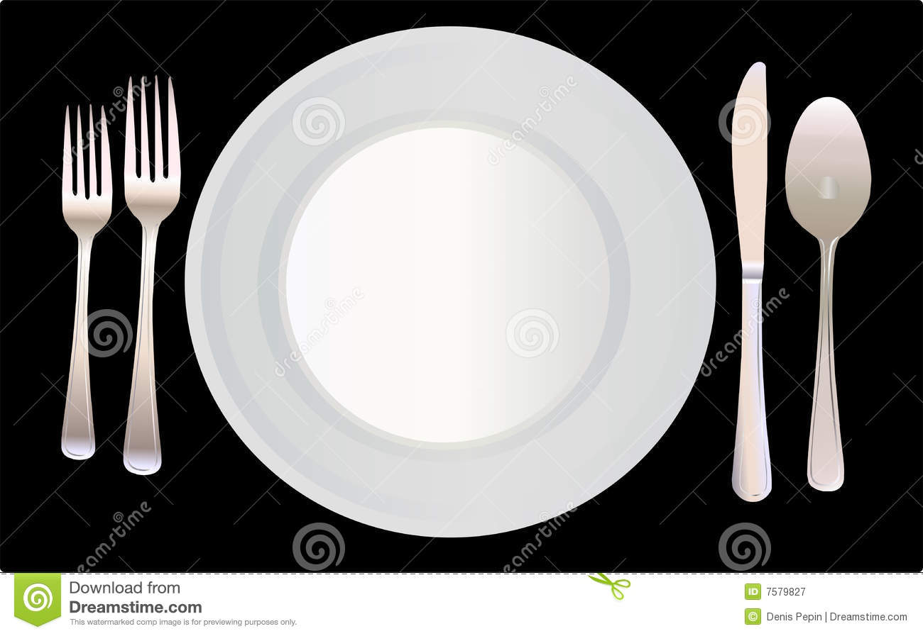 Place Setting Vector Illustration Stock Vector - Illustration of ...