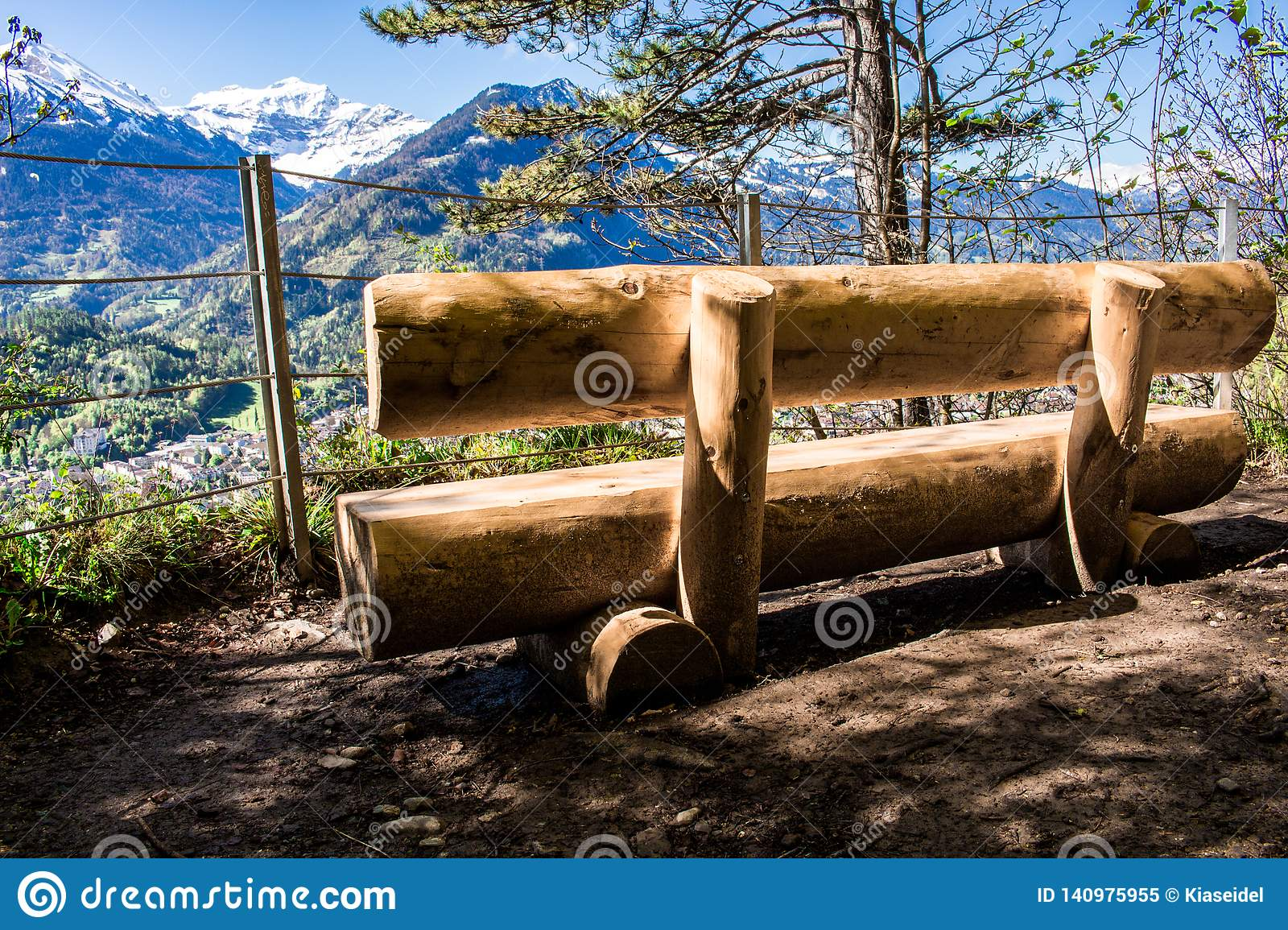 A place to chill during the hike to the top of Harder Kulm in Interlaken, Switzerland