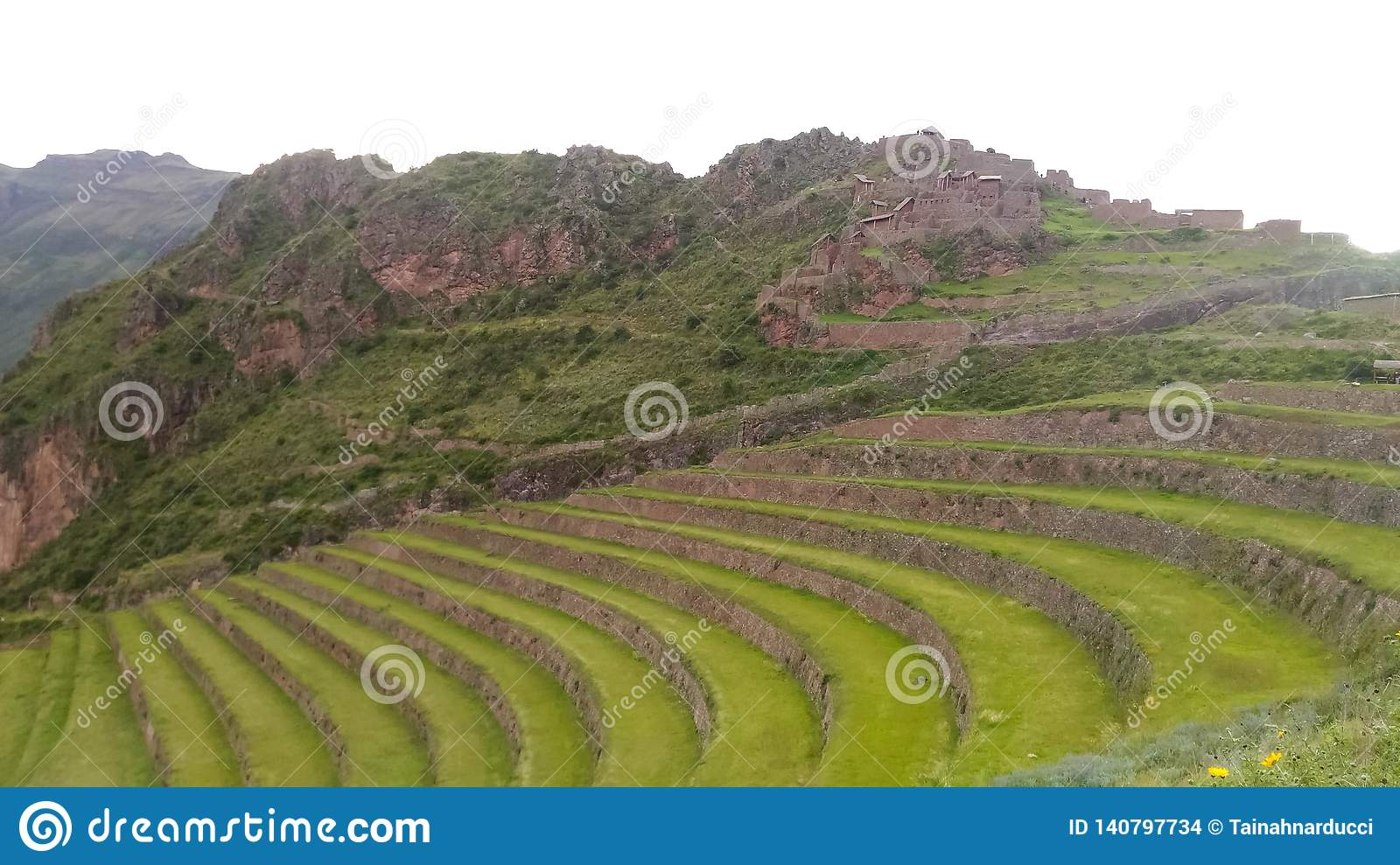 The most important archaeological site in sacred valley, Pisac, Peru, 02/07/2019