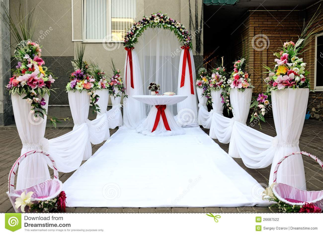 Places For Wedding Ceremony: Place For Wedding Ceremony. Stock Photography
