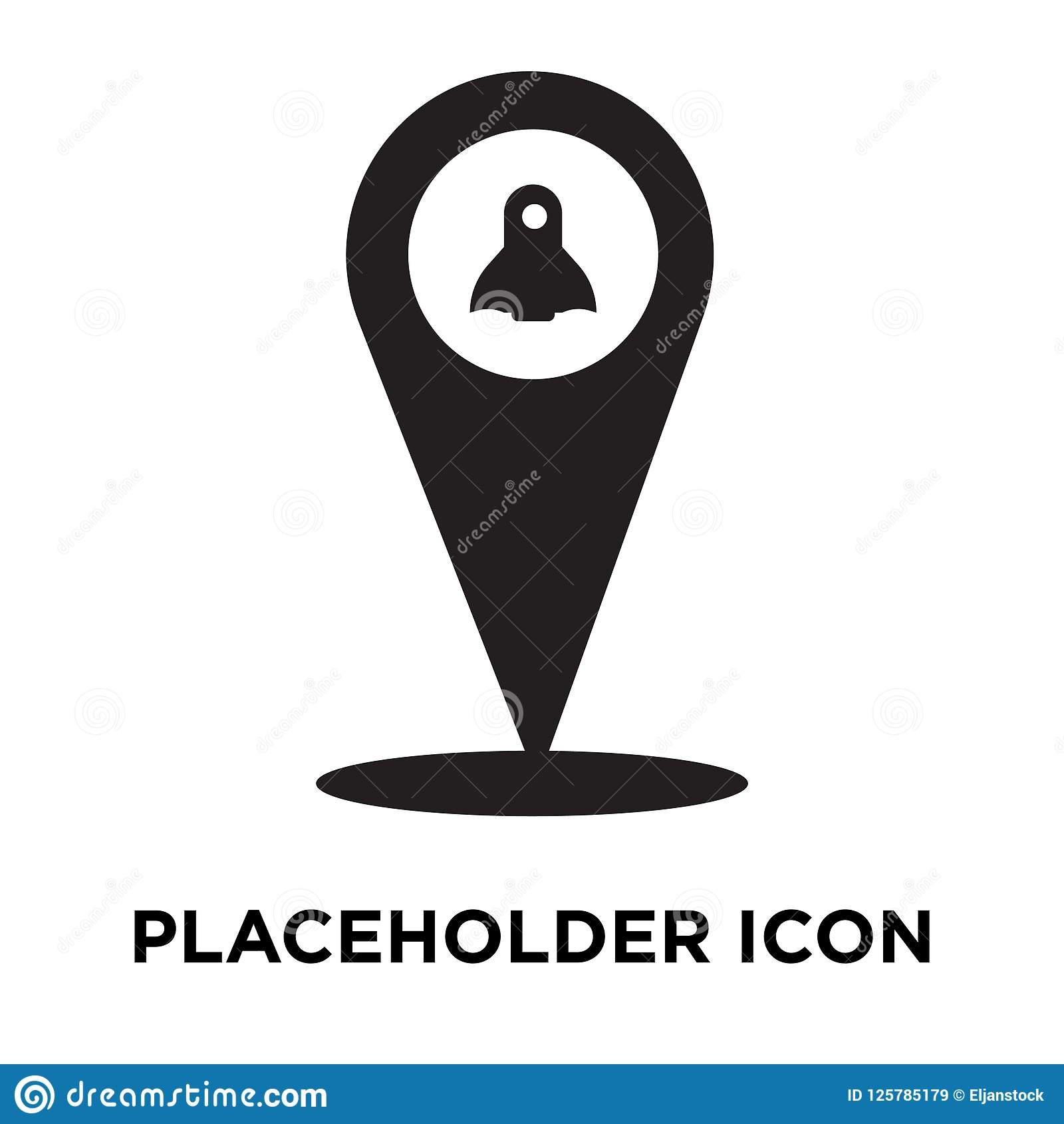 Placeholder Icon Vector Isolated On White Background Logo