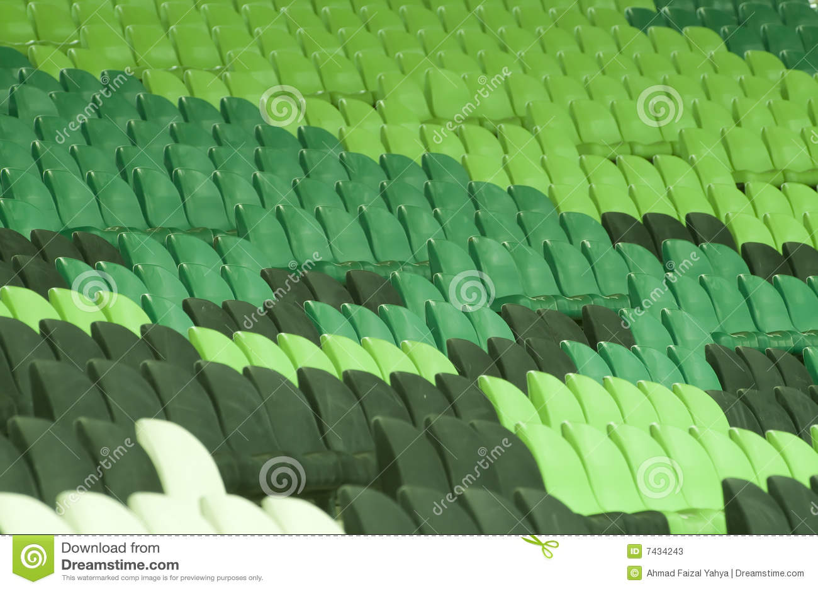 Placerar den tomma stadionen