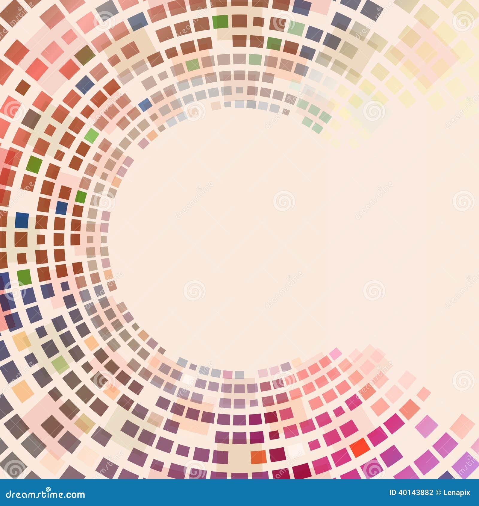 Places colorées circulaires