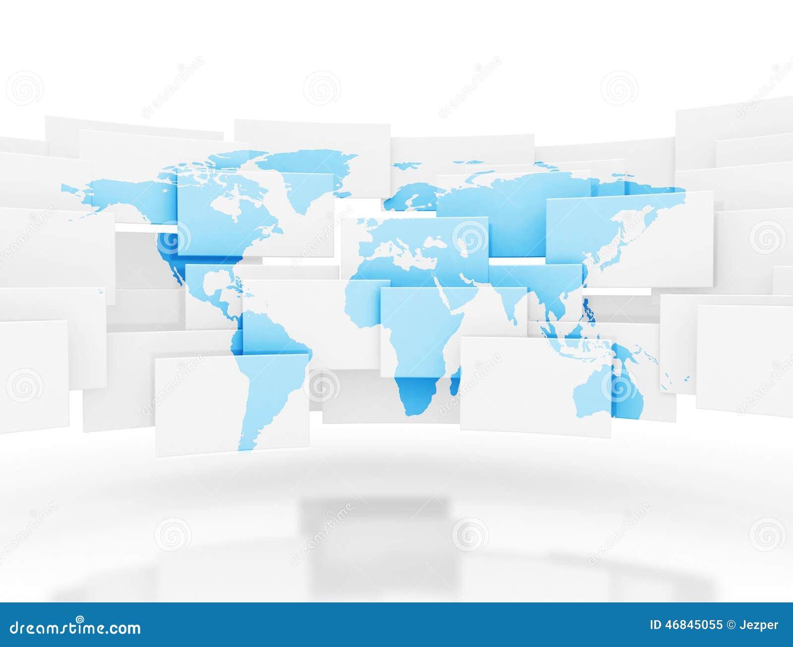 Places 3d avec la carte du monde