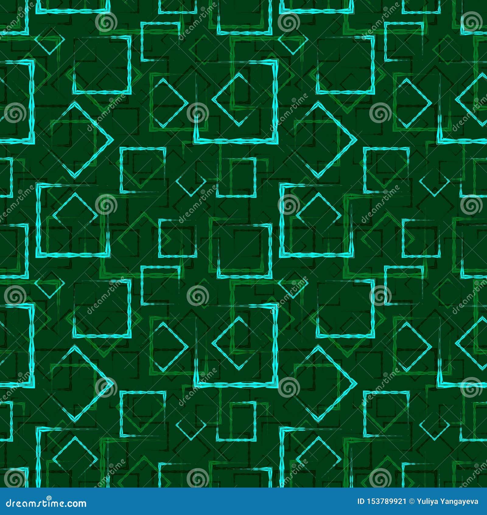 Places et cadres découpés azurés pour le fond ou le modèle vert abstrait