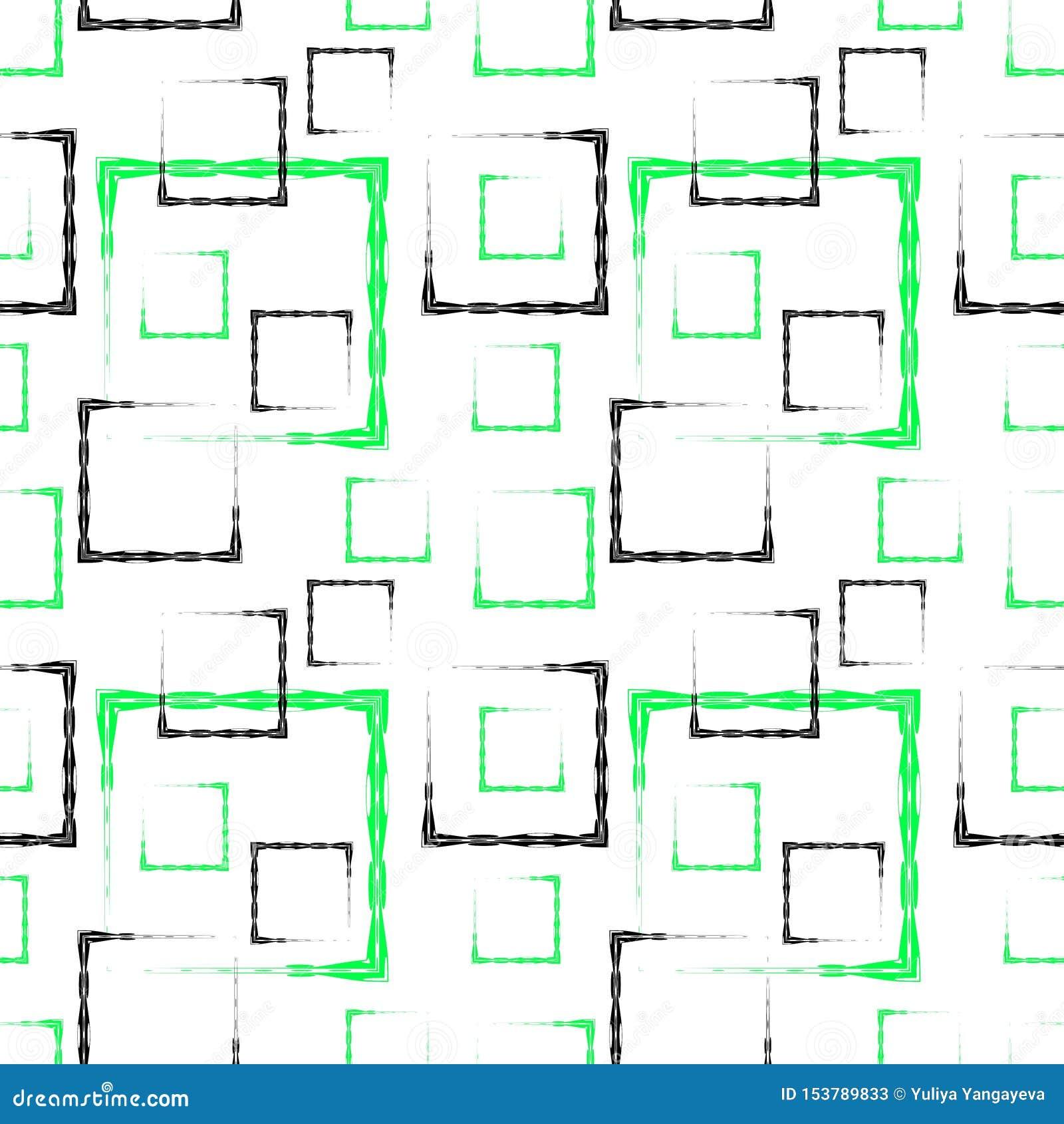 Places et cadres découpés verts et noirs pour un fond ou un modèle blanc abstrait