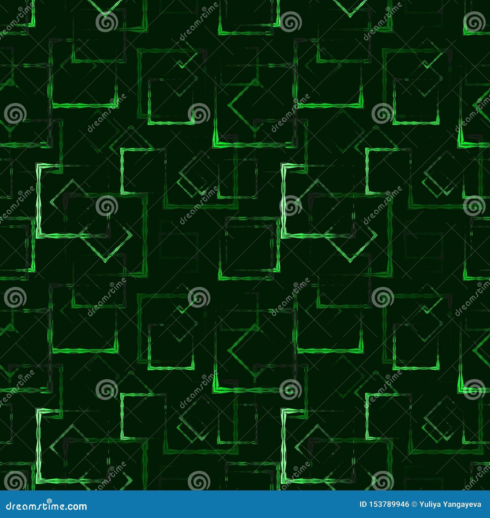 Places et cadres découpés verts rougeoyants pour un fond ou un modèle abstrait