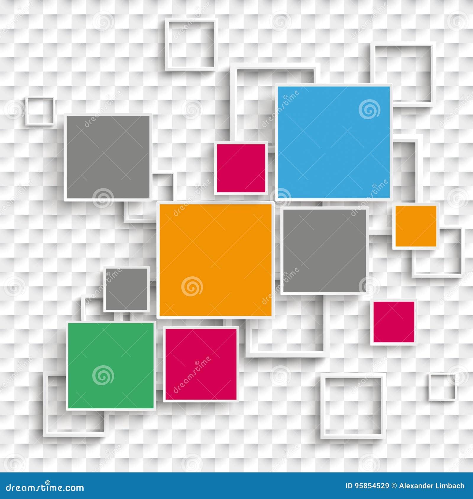 Places et options de la conception 5 de cadres à carreaux