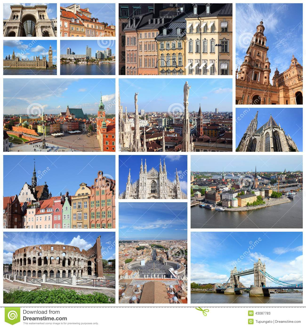 Places In Europe Stock Image Of Frame Landmarks