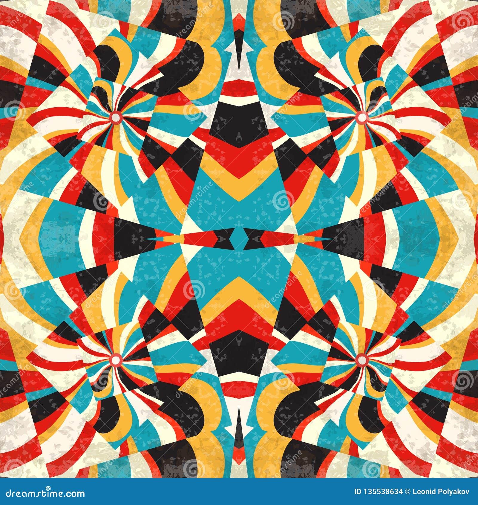 Places géométriques abstraites de fond dans l effet grunge de rétro illustration de style