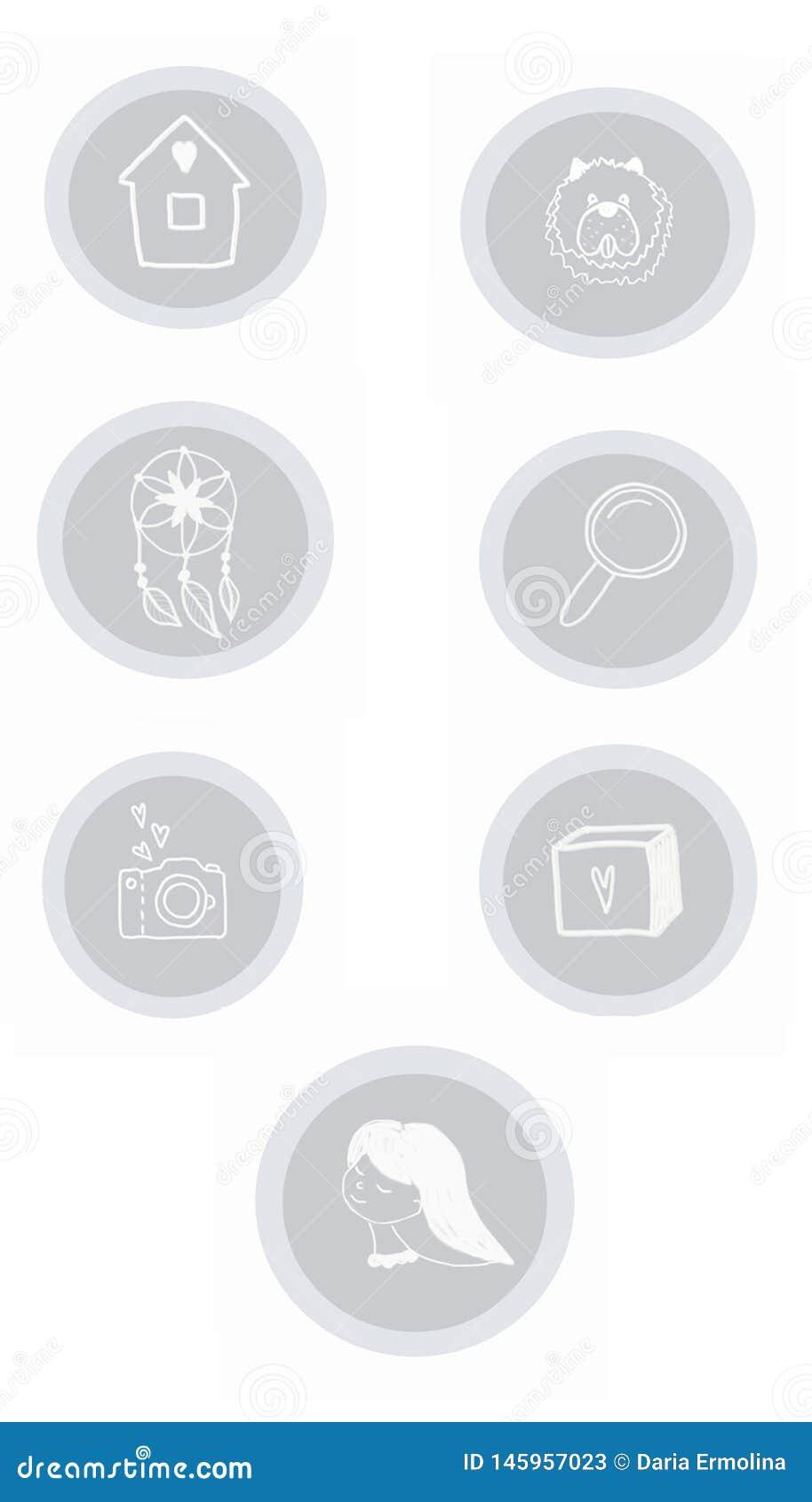 Placez avec les icônes grises