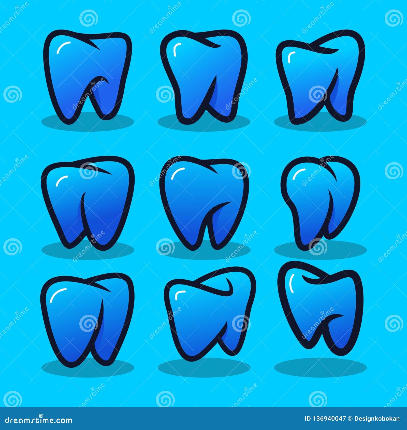 Placez de Logo Vector moderne dentaire