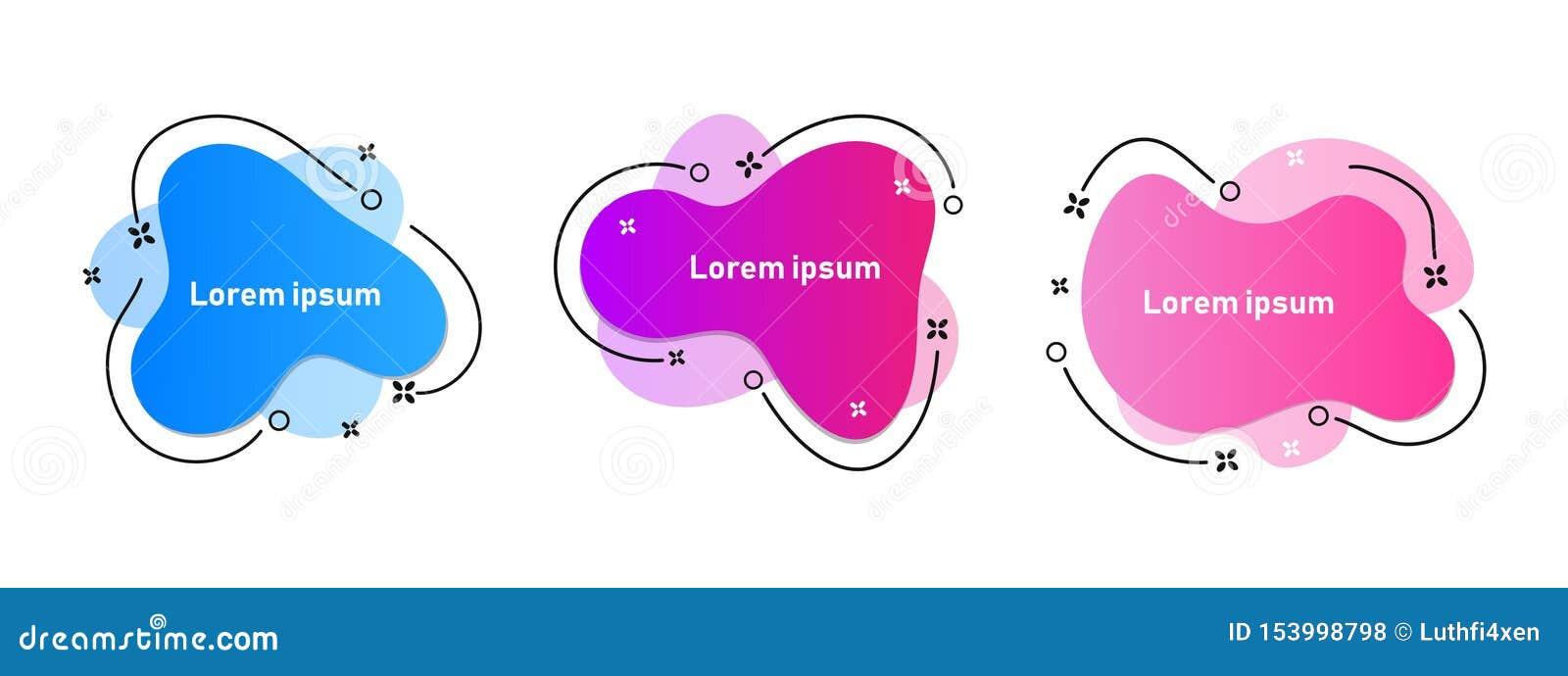Placez des éléments graphiques modernes de résumé avec les formes et la ligne colorées dynamiques