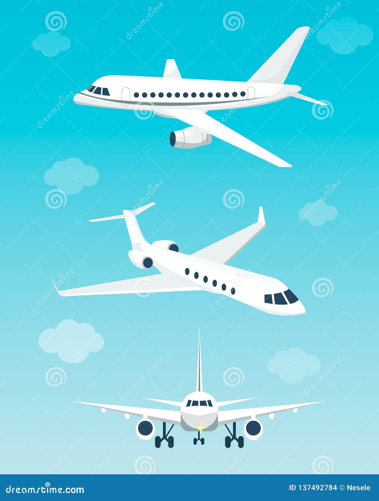 Placez des avions avec différents angles