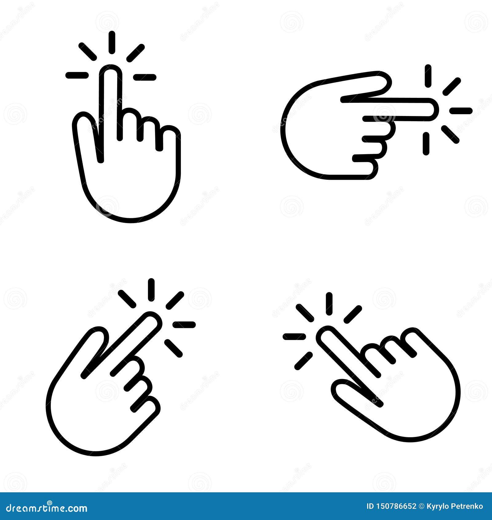 Placez des mains cliquant sur sur votre bouton