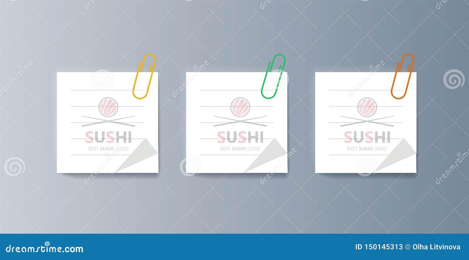 Placez Des Sushi De Brochures Pour Lancer Les Biens Et Les
