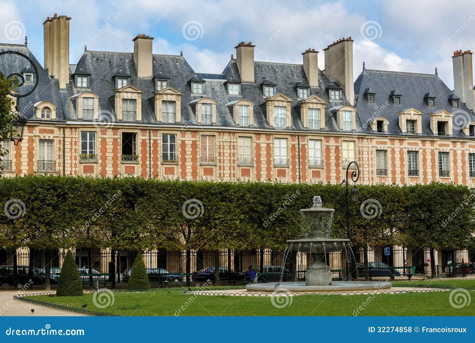 Placez DES VOSGES, Le Marais, Paris, France