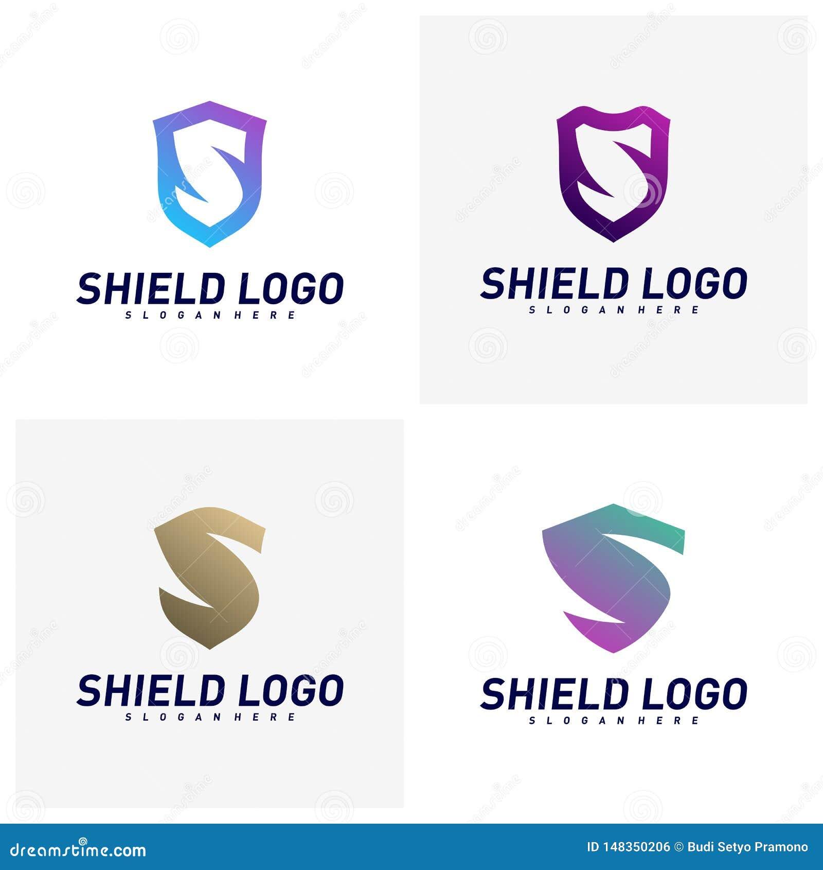 Placez du bouclier initial Logo Design Concepts de S Conception d illustration de vecteur de bouclier de lettre de S Symbole d ic