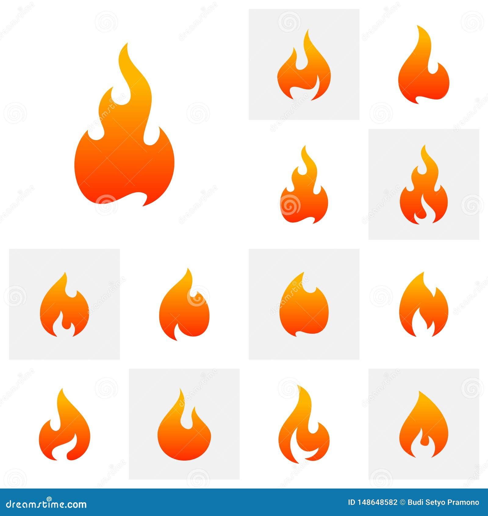 Placez du calibre de vecteur de conception de logo de flamme du feu Symbole d ic?ne