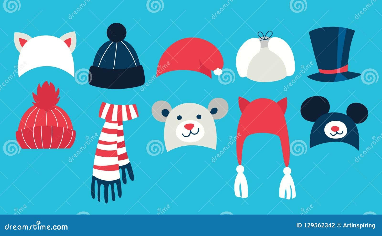 Placez du chapeau mignon chaud d hiver pour la saison froide