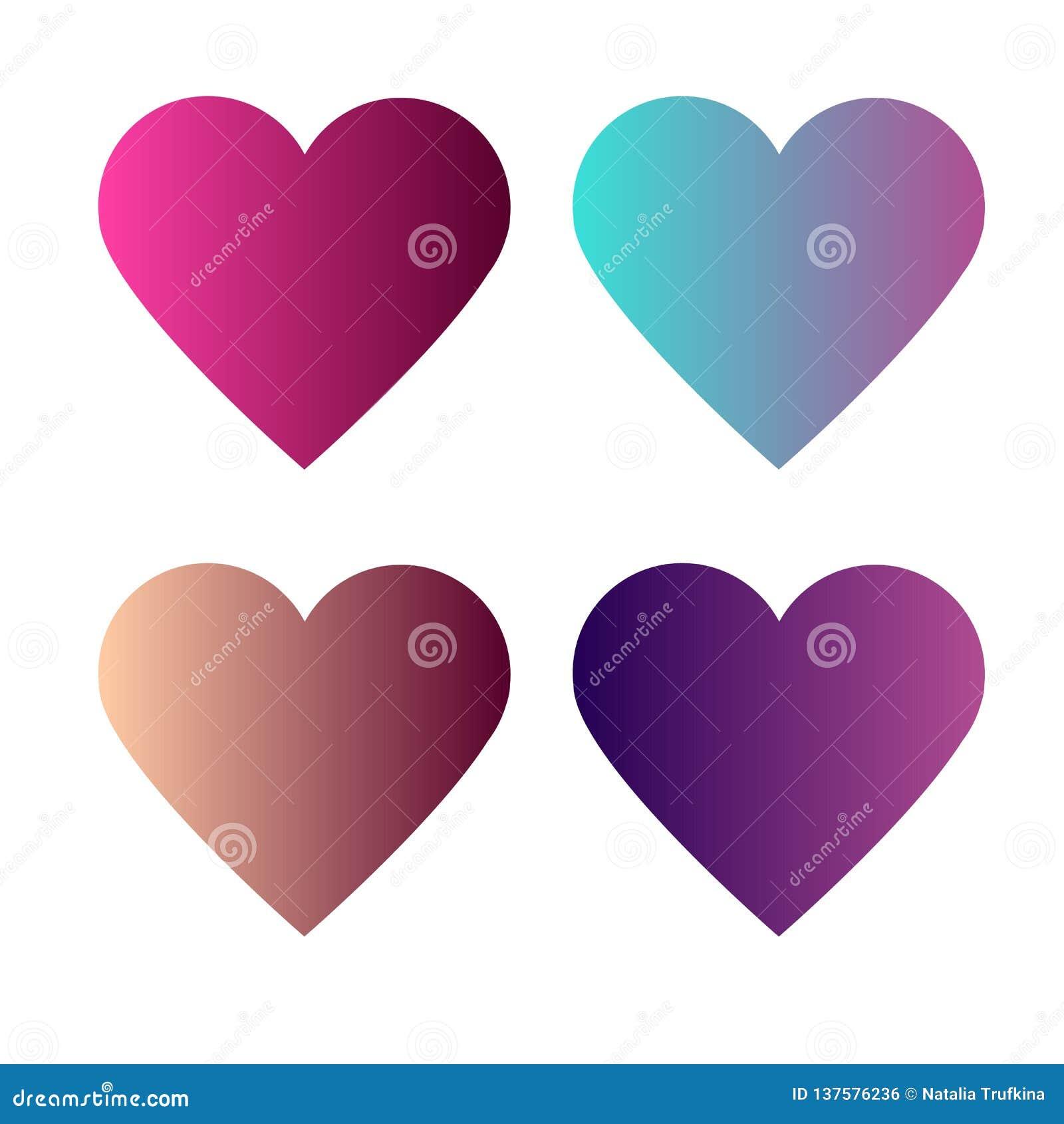 Placez du coeur 4 avec des gradients colorés