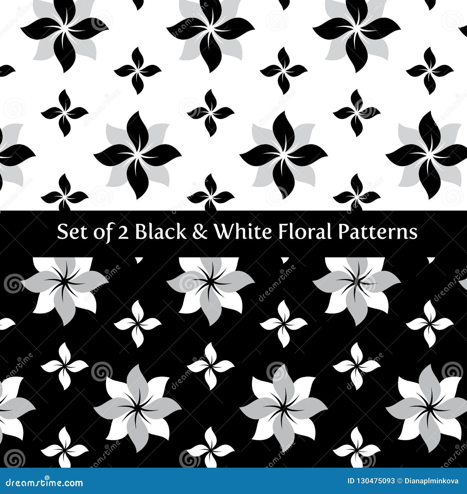 Placez du noir 2 floral