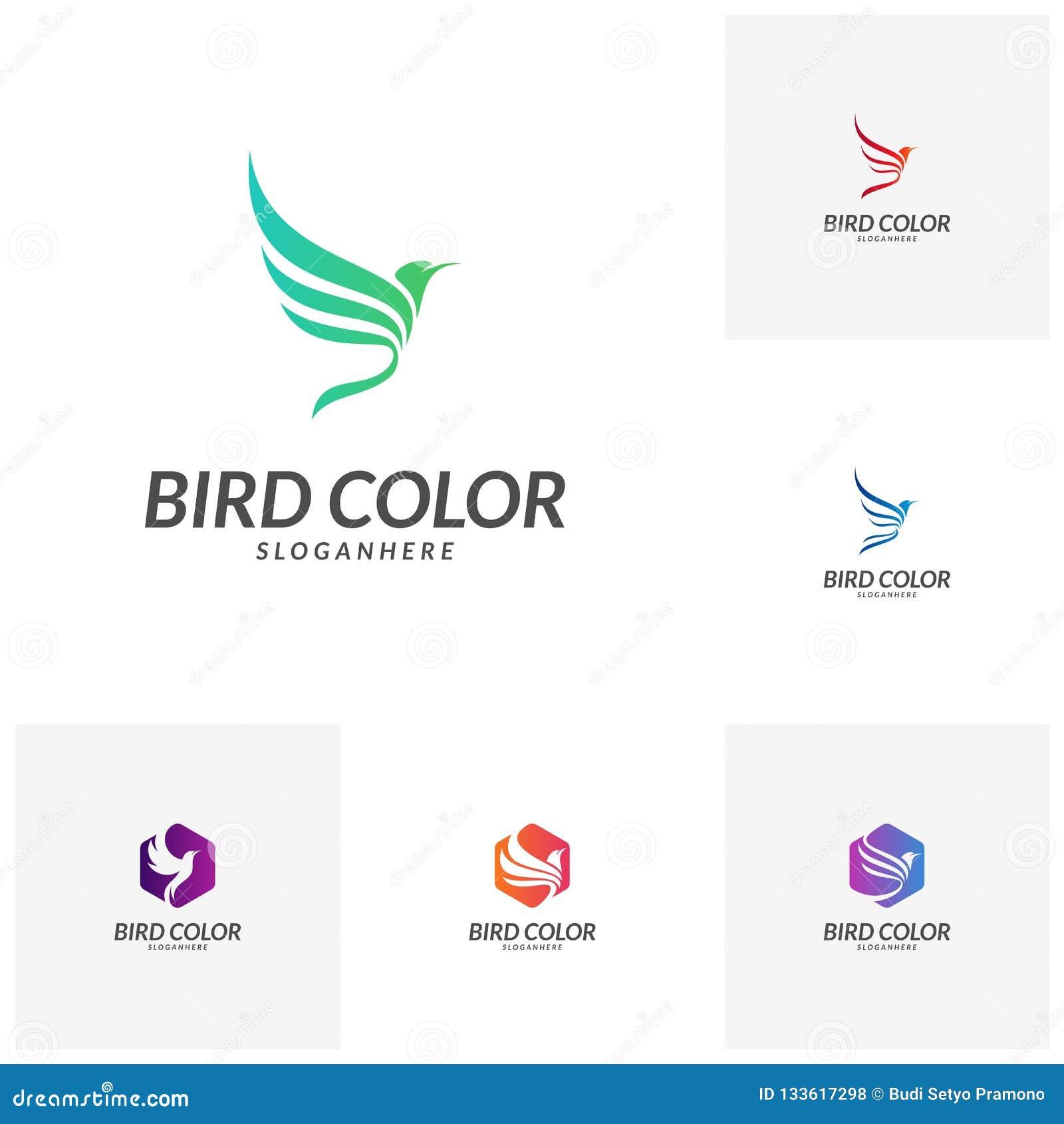 Placez du vecteur de logo d oiseau Calibre de vecteur de conception de logo d oiseau de vol Icône de concept de Logotype de pigeo
