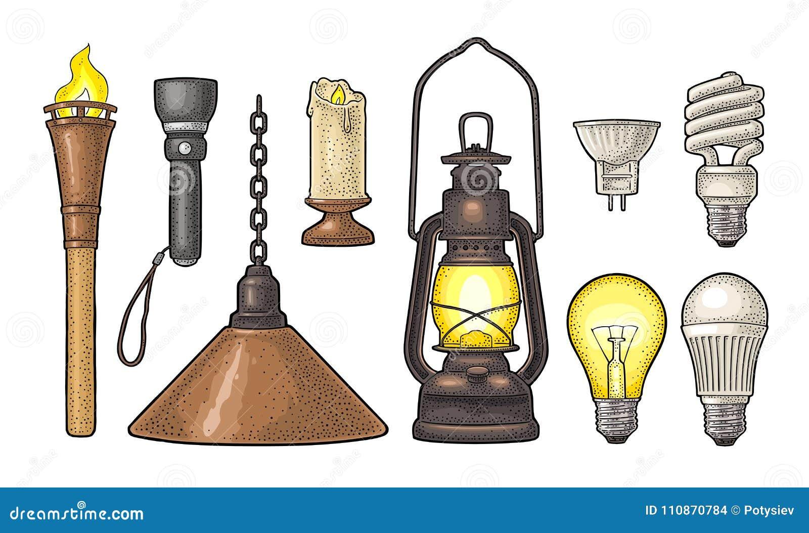 placez l 39 objet d 39 clairage torche bougie lampe torche diff rents types lampes lectriques. Black Bedroom Furniture Sets. Home Design Ideas