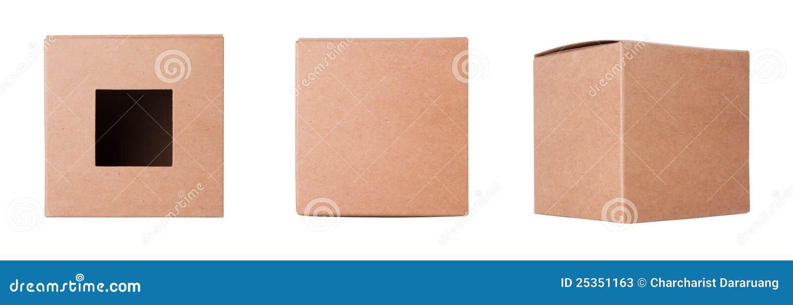 Placez la boîte en carton