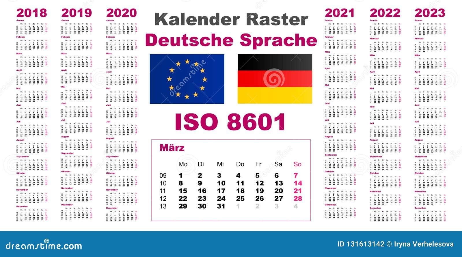 Calendrier Allemand 2020.Placez La Langue Neerlandaise Allemande De Deutsche De